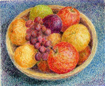 17b Waller, Penny- fruit Bowl, Egg tempera.jpg