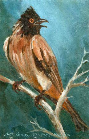 23 Khoury, Chris- Red Eyed Bulbul, Oil on canvass.jpg
