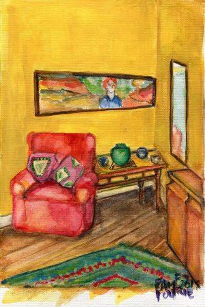 25c Fourie, Pamela Mary - Interior at 355 Prince Alfred Street, Acrylic,Gouache.jpg