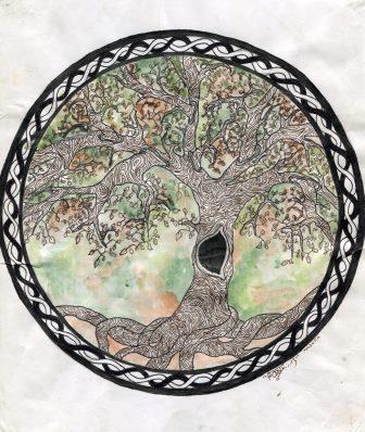 26c Rouillard, Andrea- Fantasy Tree, Water colour, Ink.jpg