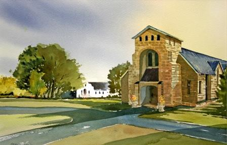 32 Wood, Grant-Chapel at Hilton College,Watercolour on paper.JPG