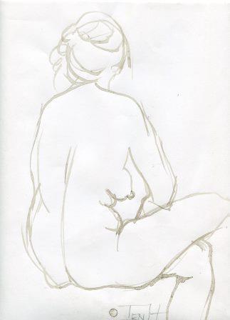 36b Hallows, Jenny-Female Figure,Ink on paper.jpg