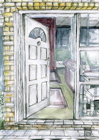 48 Hoal, Peter-The Front Door, Wash and Ink.jpg