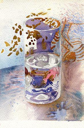 58b Spies Coleman, Hermine - Still Life with Blended Pink, Watercolour on Paper.jpg
