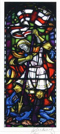 62b  Leibnitz,Elsie- St. George and the Dragon(with Flag), Digital Photograph.jpg