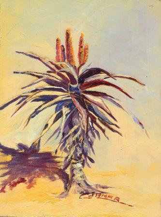 72a Varney Jamar, Christiane - Aloe candelabra 1, oil on block.jpg