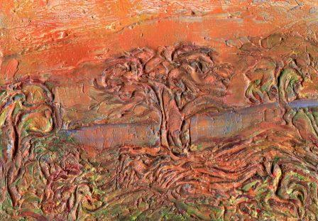 74c Physick, Sue - Scotch's Trees - Sundowners, Mixed media.jpg