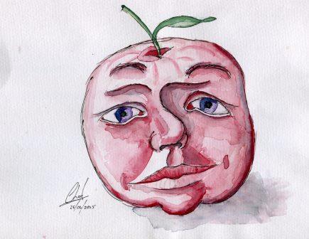 84b Landberg, Charl - Applehead, Watercolour on paper..jpg