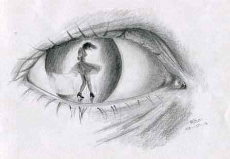 87a Moodley, Tazlo - The Dancing Eye, Pencil on paper.jpg