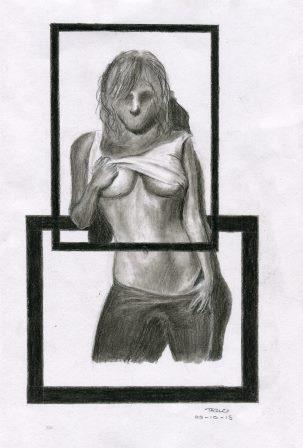 87c Moodley, Tazlo - The Girl without a Face, Charcoal Pencil.jpg