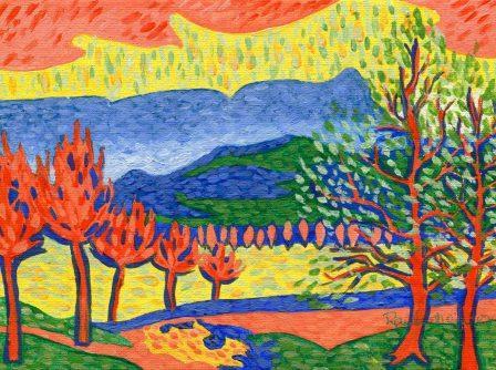 93b Raubenheimer,N.A. Inhluzane After Derain, Acrylic on Canvass.jpg