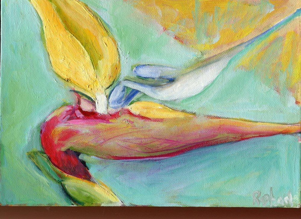 102a Raphael, Catherine - Mandela Gold 1, Oil on canvas.jpg