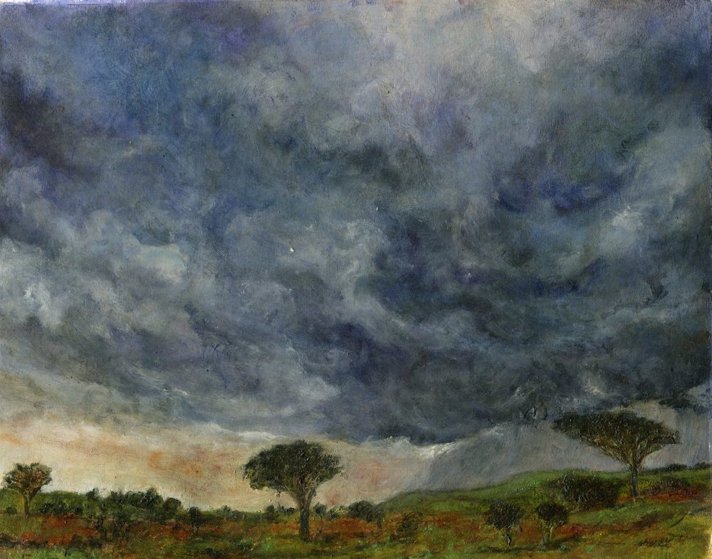 Landscape with Dark Clouds