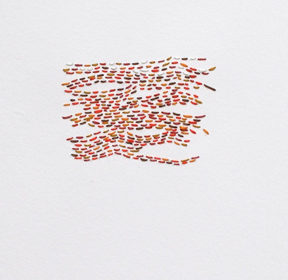 108c Frances Harrison, In Stitches  3, Cotton & paper