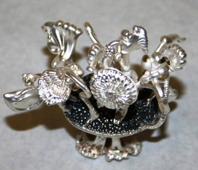85a Chantal Mayer, In the Garden of Dr. Seuss, Sterling silver