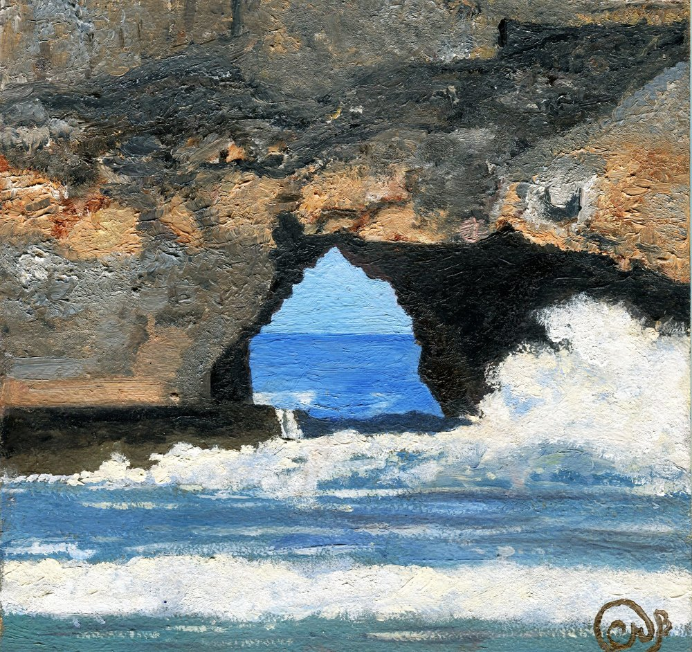 84a Camlyn Craig Brown,  The Hole in the Wall, Eastern Cape, Oil on board