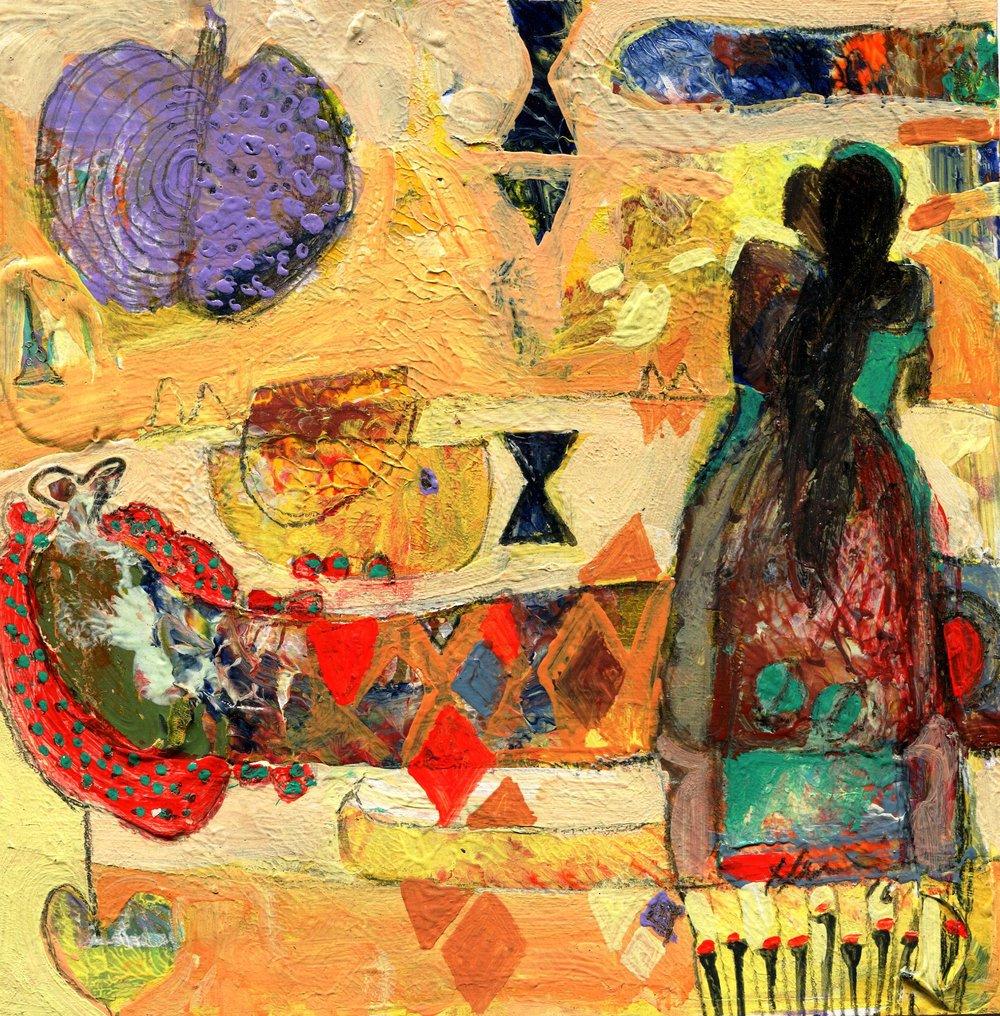90b Hussein Salim,  Summer , Acrylic on paper