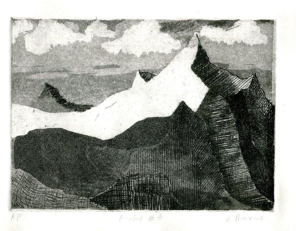 96c Eloff Pretorius, Molar 4, Etching on paper
