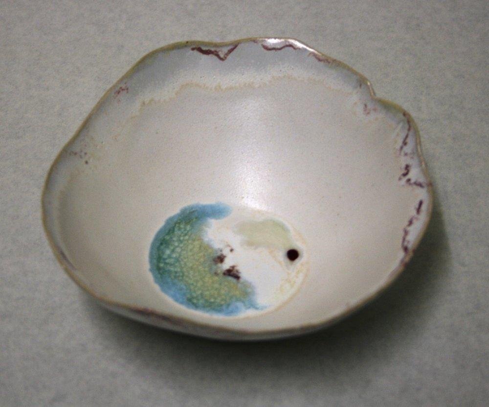 103a Fay Morris, Bowl 1, Ceramic & glass