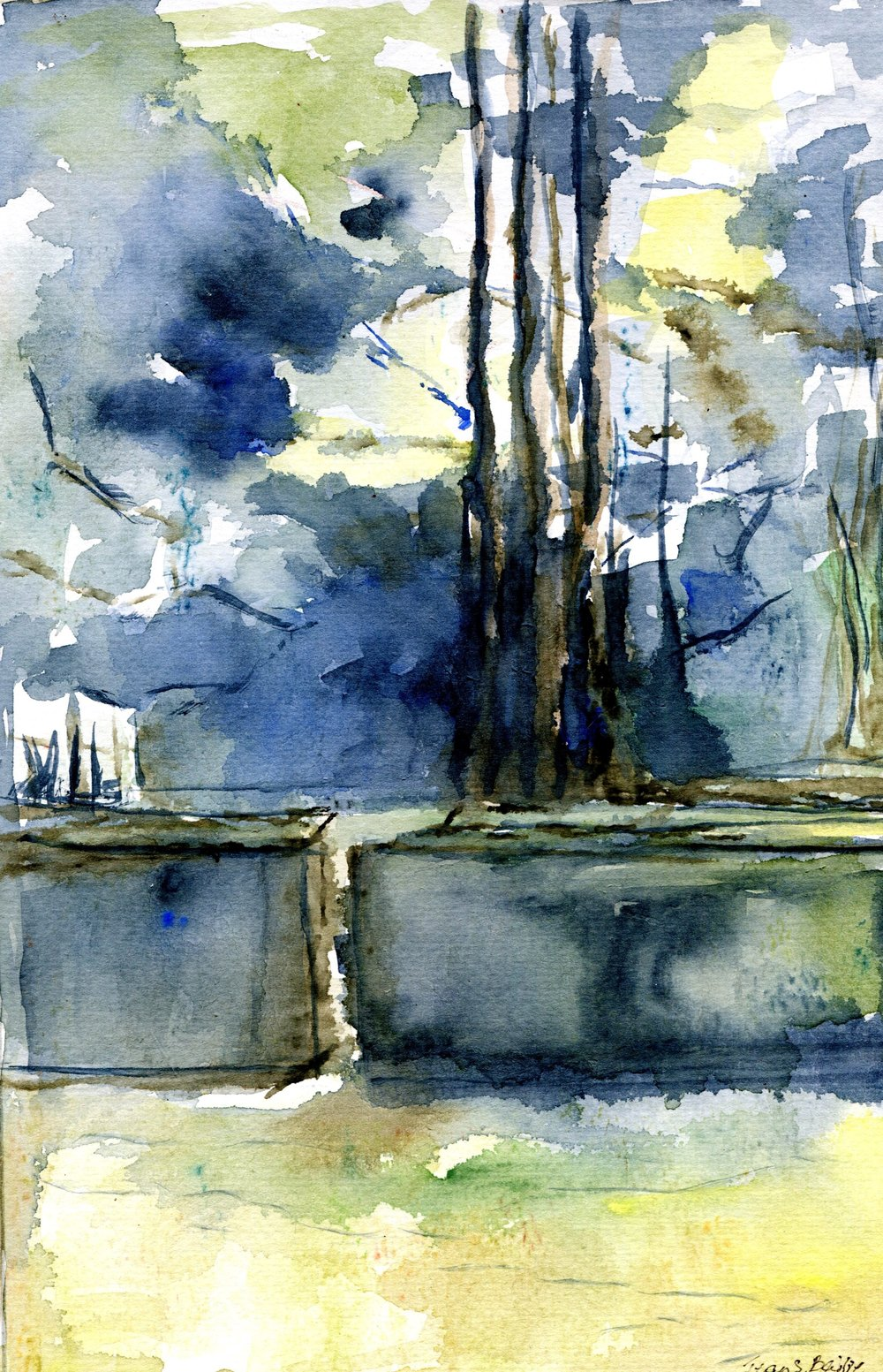 40a Jean Bailie, A Watery Day, Watercolour on paper