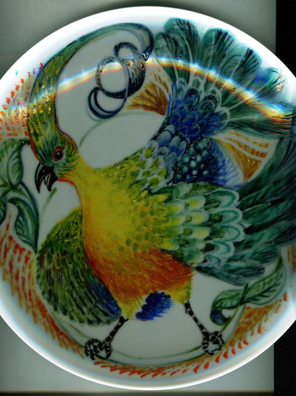 41a Kathy Pienaar, Decorative Plate, Onglaze enamel ceramic