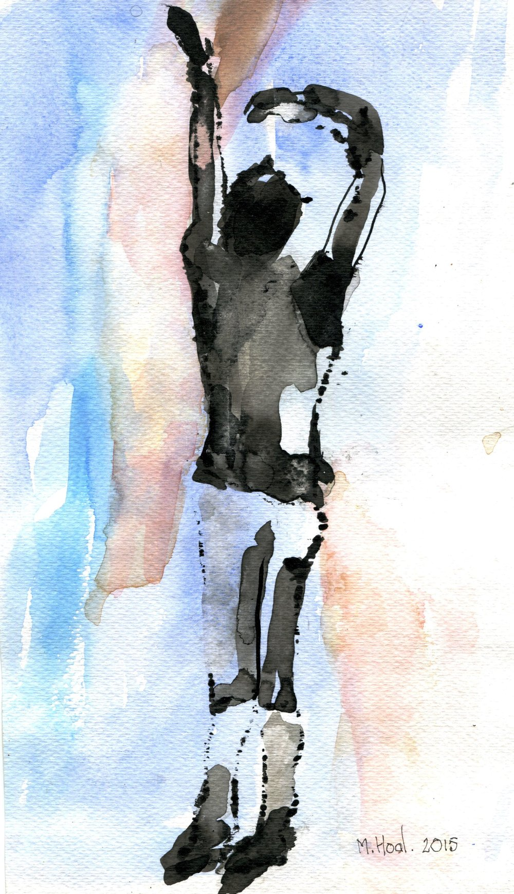 43b Helen Margaret Hoal, Jump for Joy, Inkblot and watercolour on paper