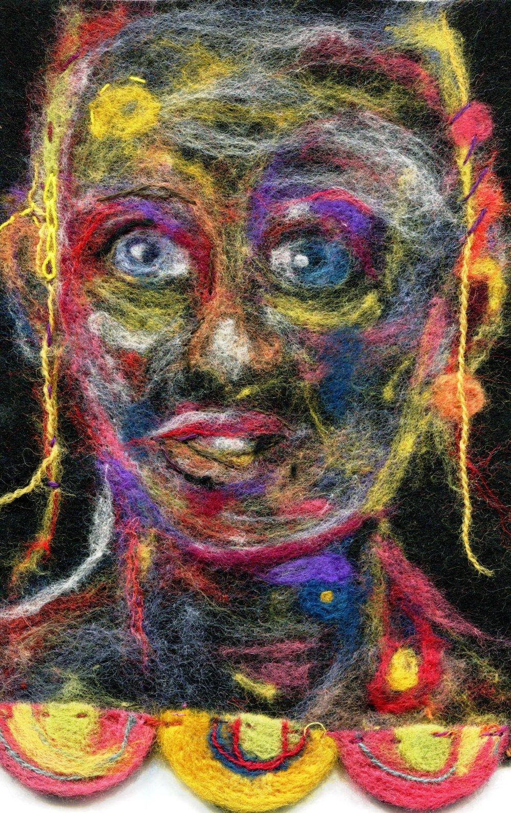 44b Annette McMaster, Inner Space, Felt (needle felting)