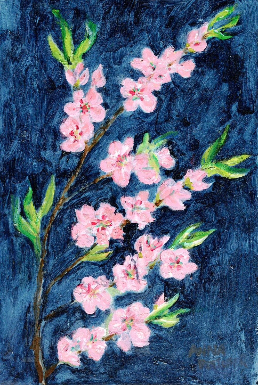 50a Anna Pettifer, Spring Blossom, Acrylic on board