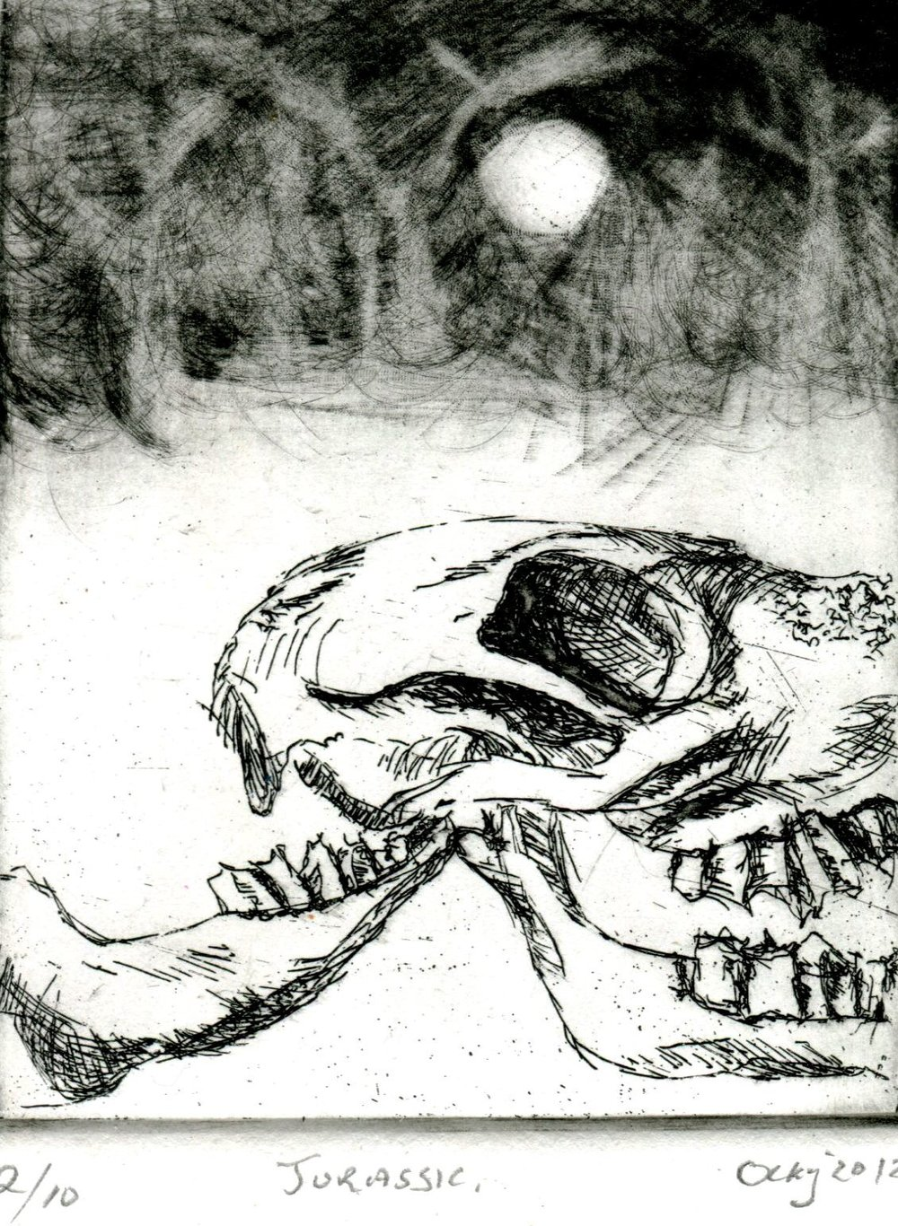 52c Ockert Kruger, Jurassic, Etching on paper
