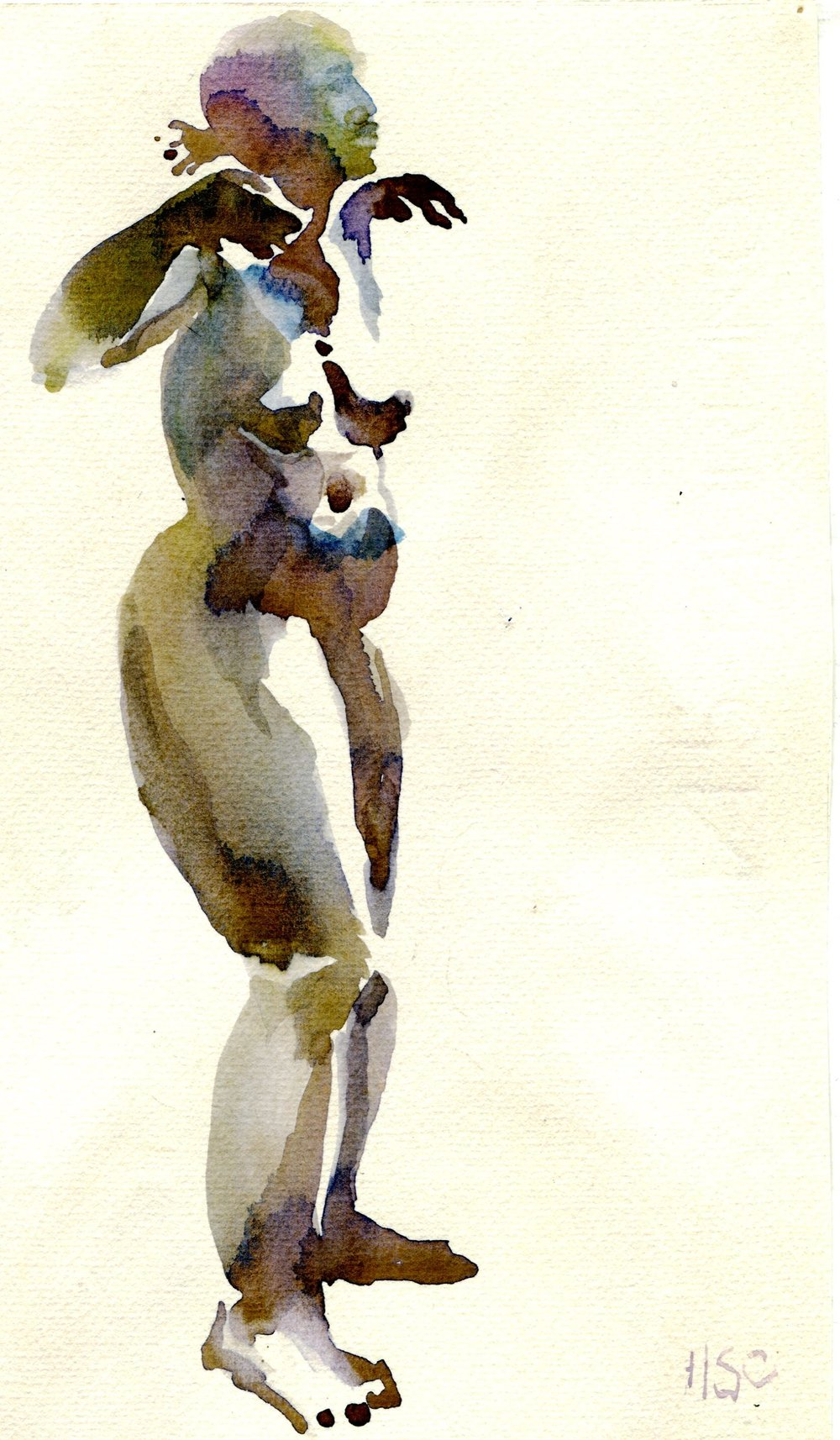 53a Hermine Spies-Coleman, Figure 1, Watercolour on paper