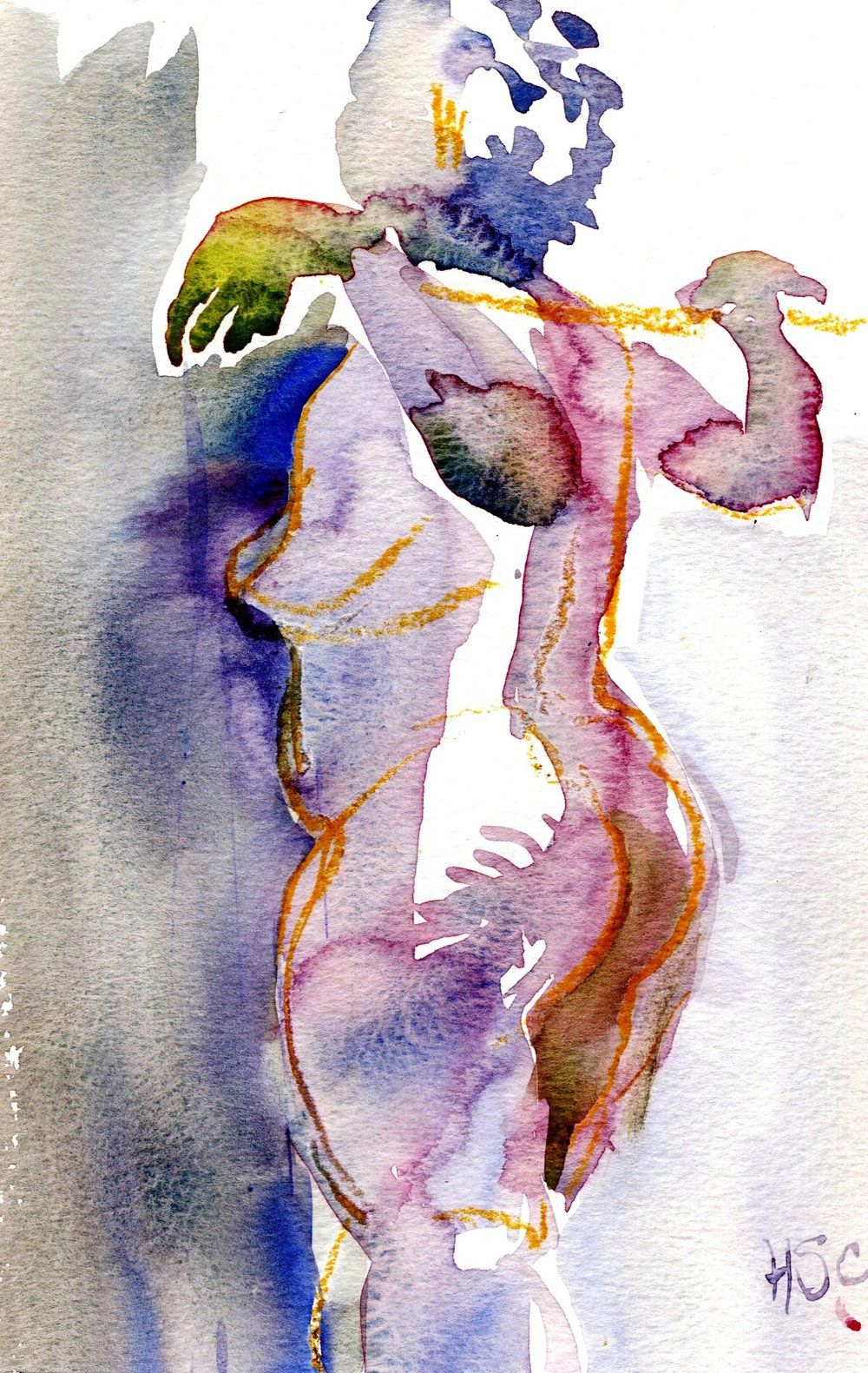 53b Hermine Spies-Coleman, Figure 2, Watercolour on paper