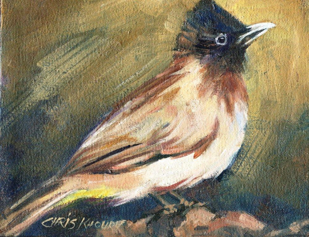 56a Chris Khoury, Bulbul, Oil on canvas