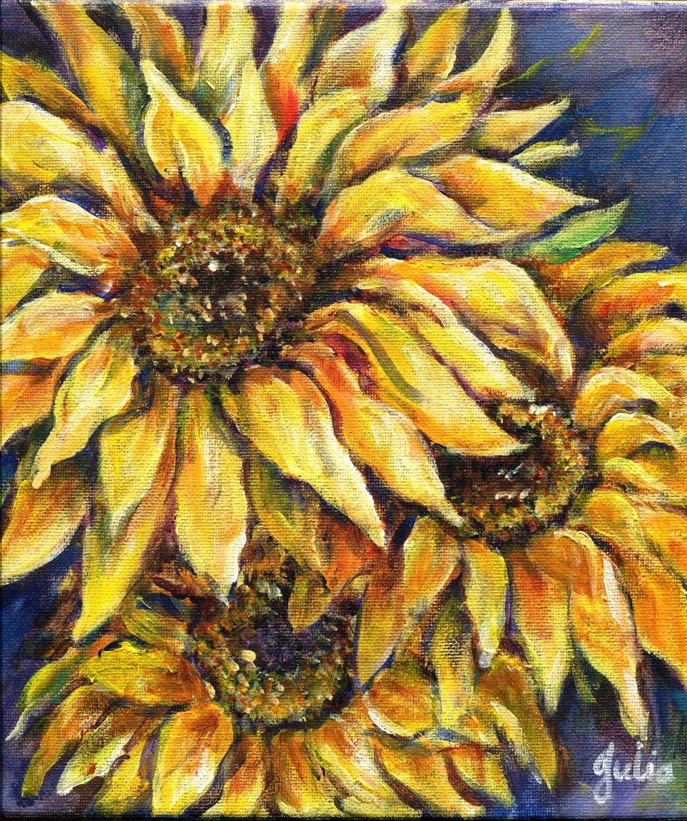 57b Julia van der Walt, Sunflower 2, Oil on canvas