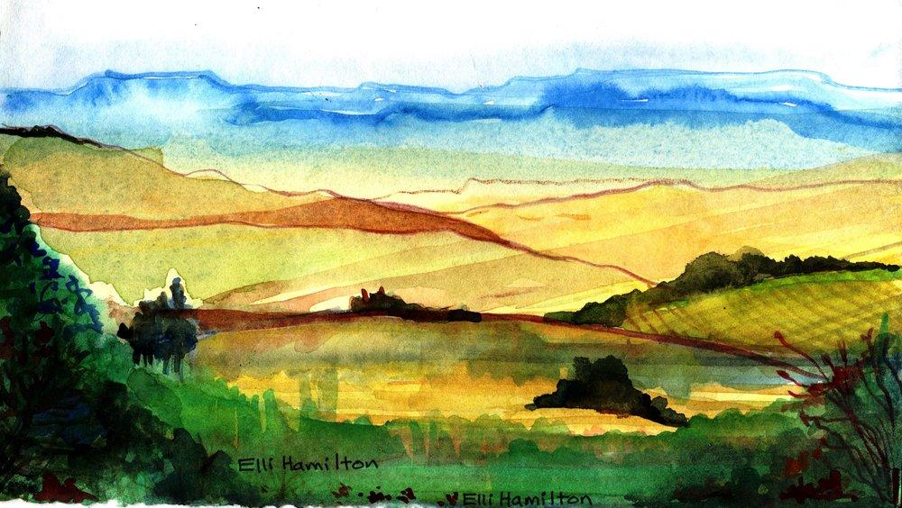 61b Elenor Hamilton, Midlands, Watercolour on paper