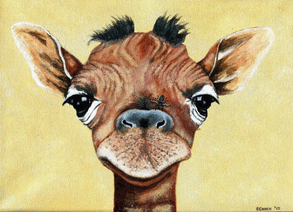 62b Helen Cohen, Giraffe, Acrylic on canvas
