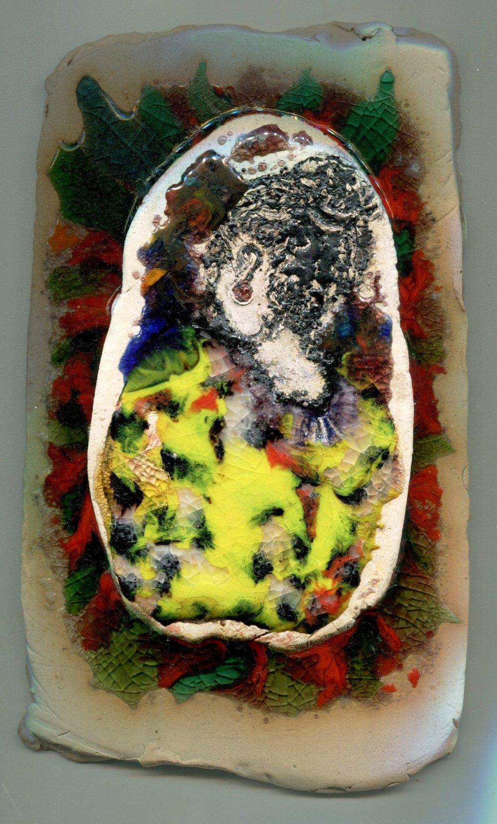 67b Willemien Cilliers, Portrait 2, Ceramic & glass