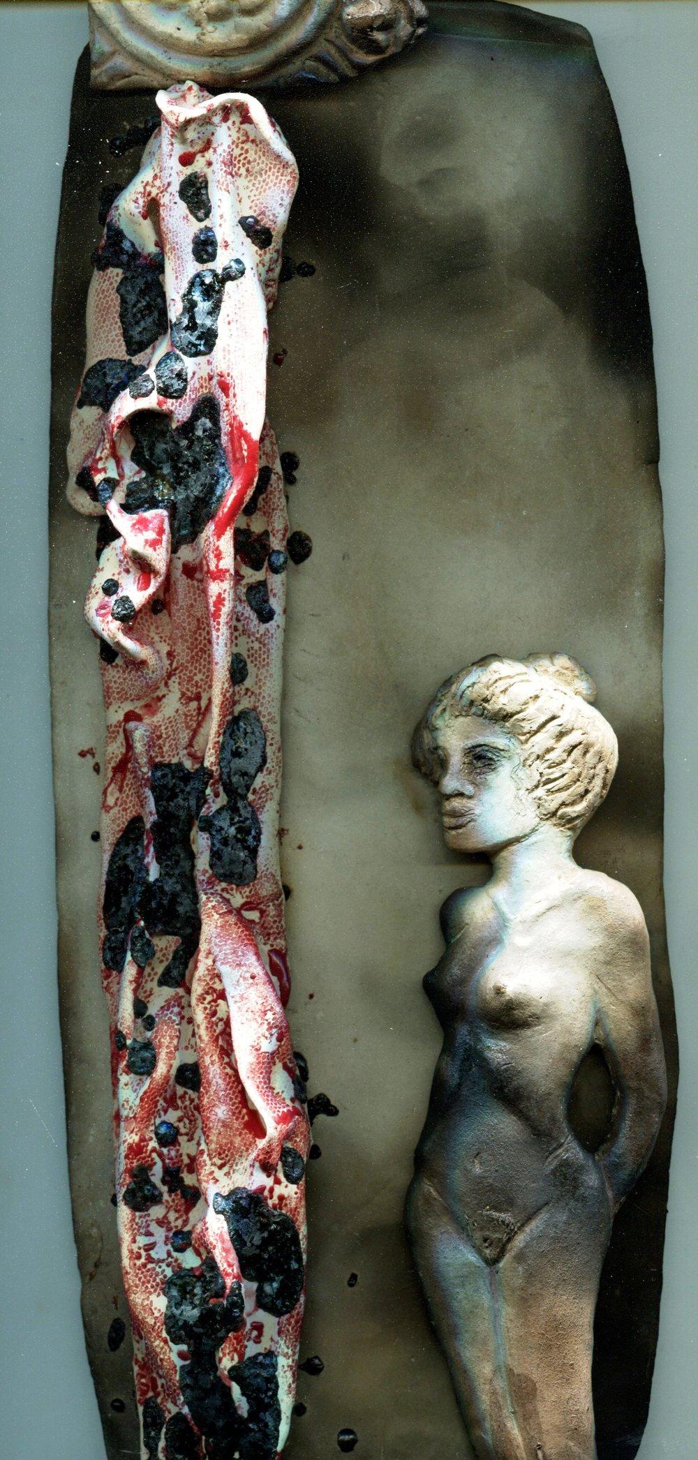 67c Willemien Cilliers, Portrait 3, Ceramic & glass