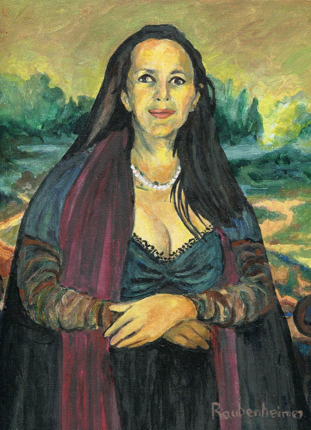 06a Nardi-Anne Raubenheimer, Thoroughly Modern Mona, Acrylic on canvas