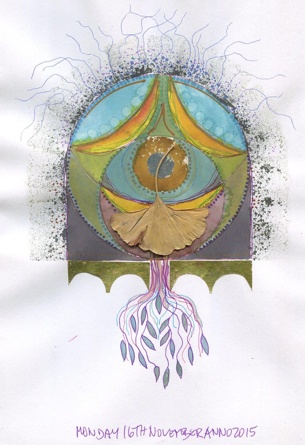 02b Jutta Faulds, Mandala 2, Mixed media on paper