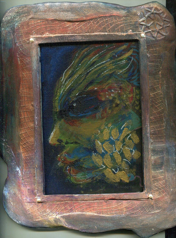 04a Liesbeth Groenewald, Earth Spirit, Acrylic on board