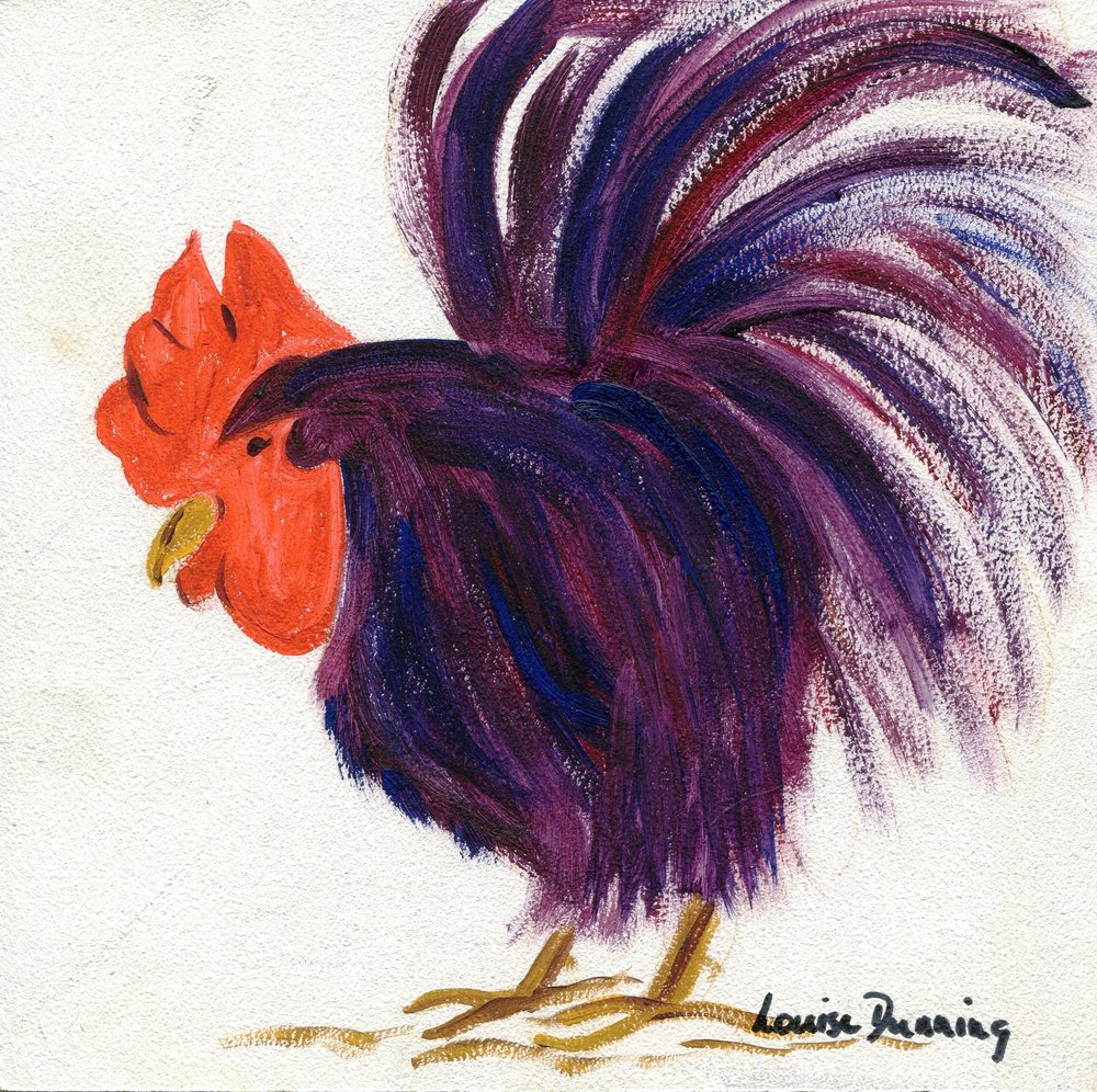 09b Louise Dunning,  Cockerel 2, Oil on board