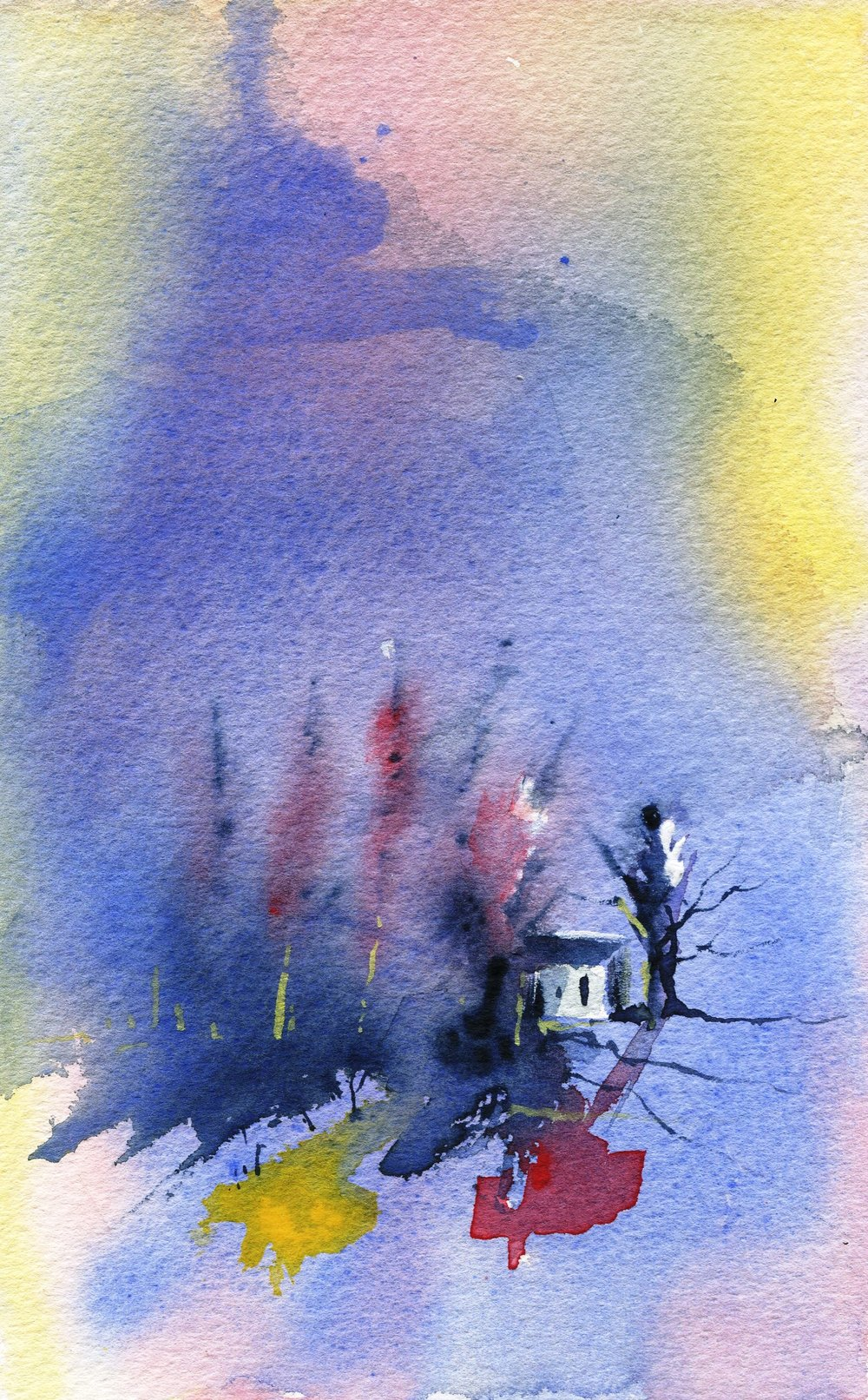 14a Cindy Powell, Little House in the Woods, Watercolour on paper