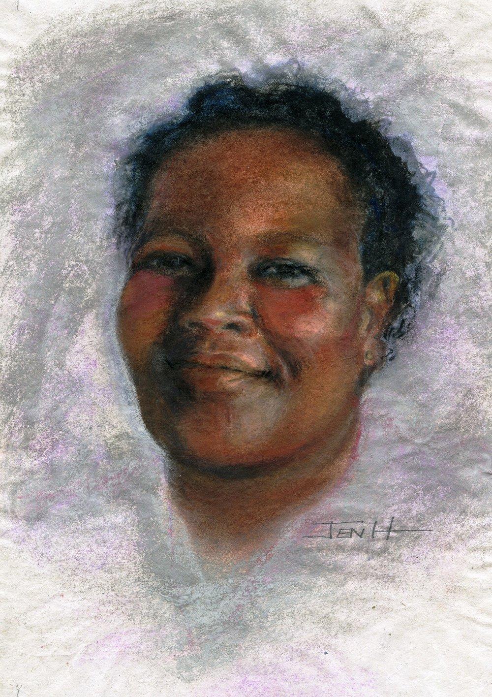 24a Jenny Hallowes, Sem, Pastel on paper