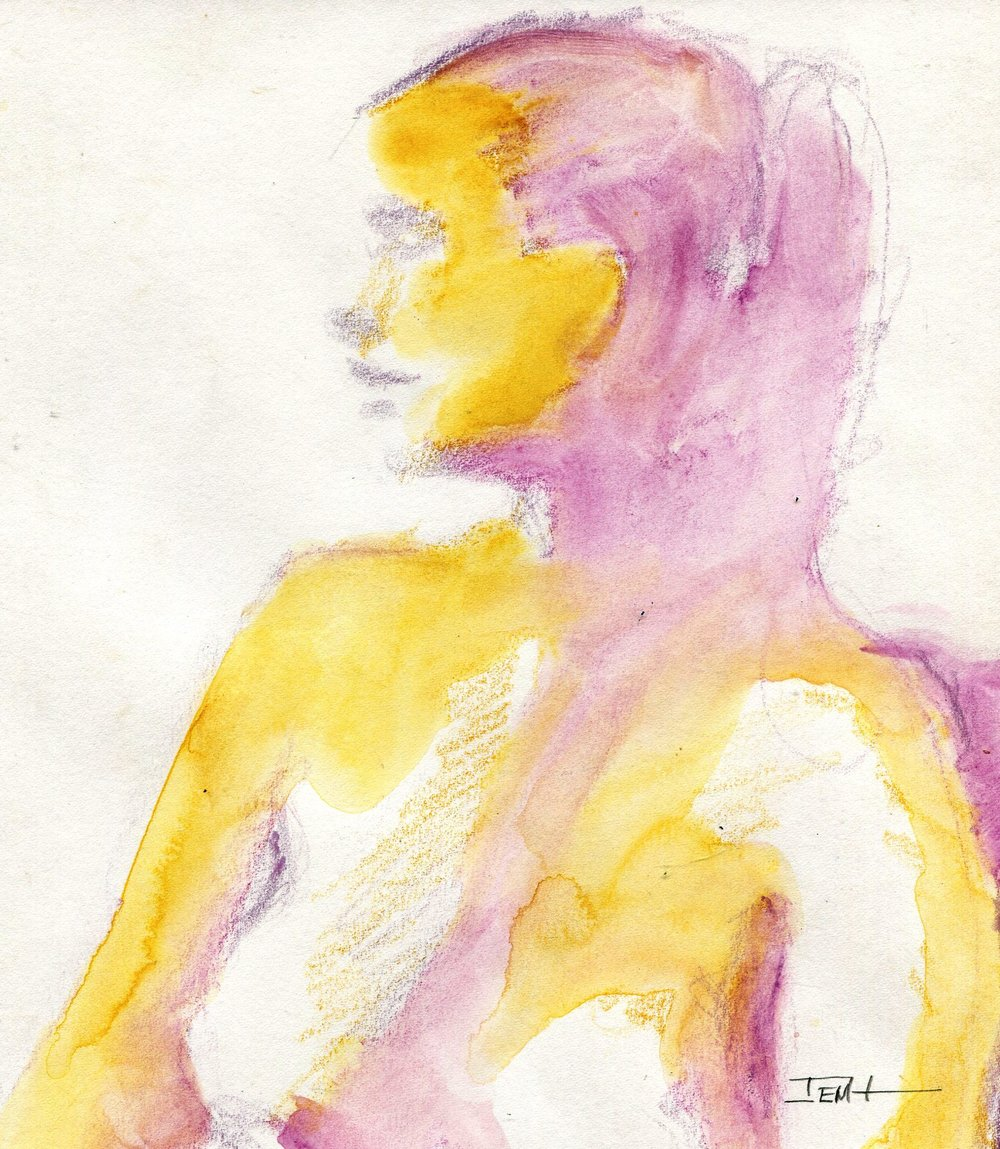 24c Jenny Hallowes, The Art Student, Watercolour pencil on paper