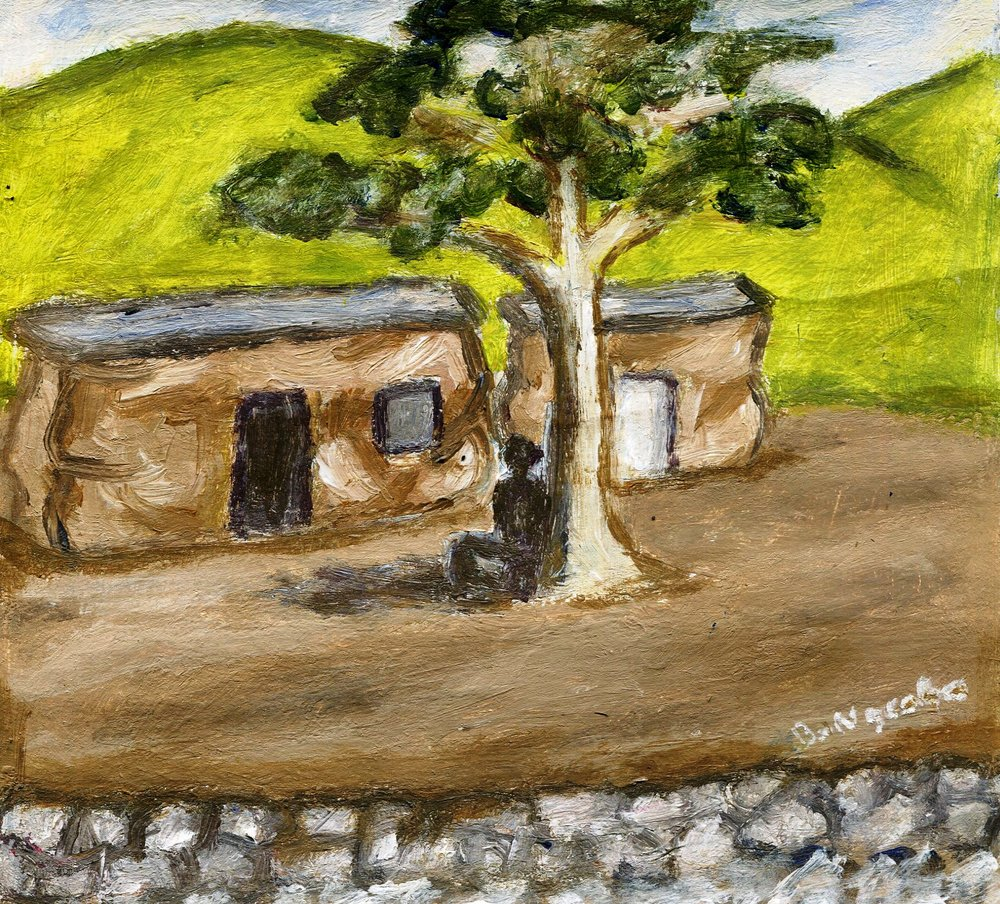 25b Bonginkosi Ngcobo, Shadow Man, Acrylic on paper