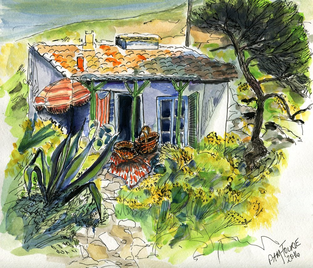 27b Pamela Mary Fourie,  Cabane in Provence , Watercolour on paper