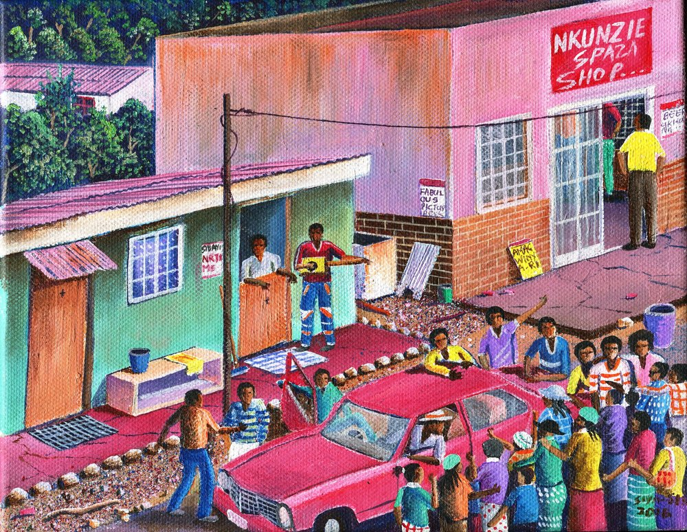 30a Siyabonga Sikosana, Nkunzie, Acrylic on canvas