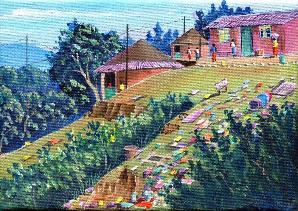 30c Siyabonga Sikosana, Kwadomboh, Acrylic on canvas