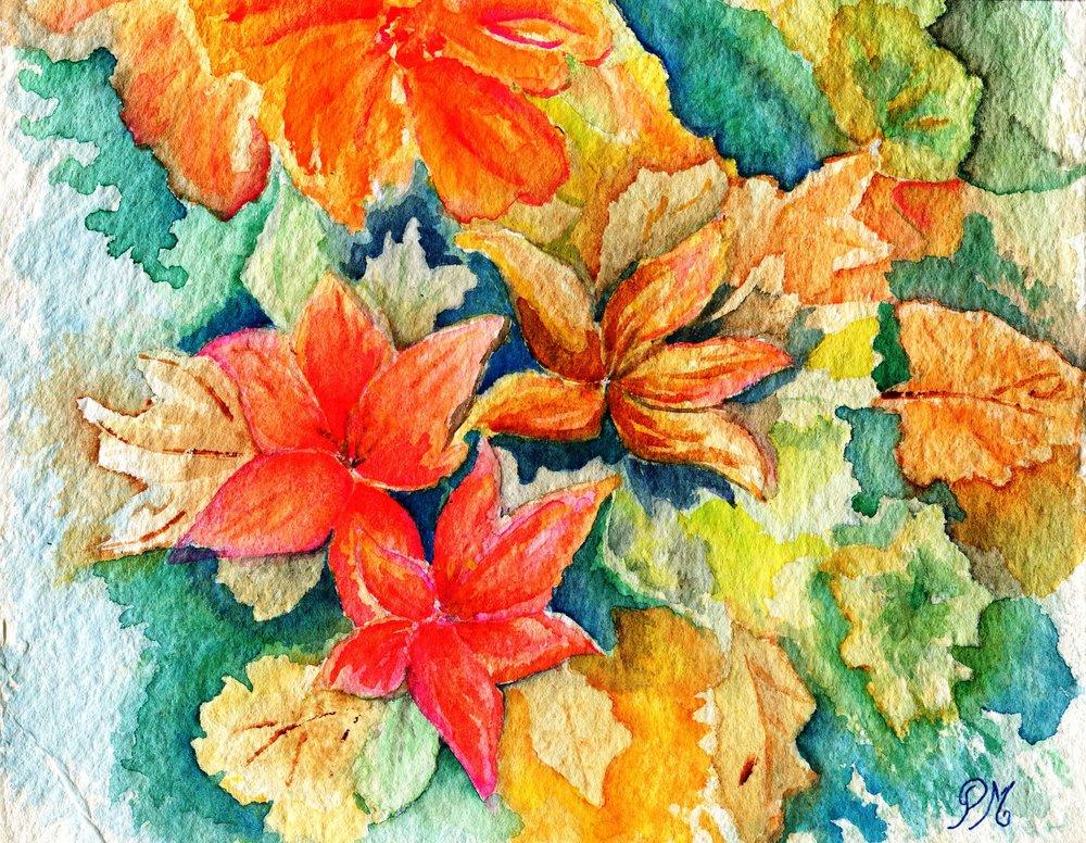31a Patricia McCann, Autumn  Glory, Watercolour on  paper