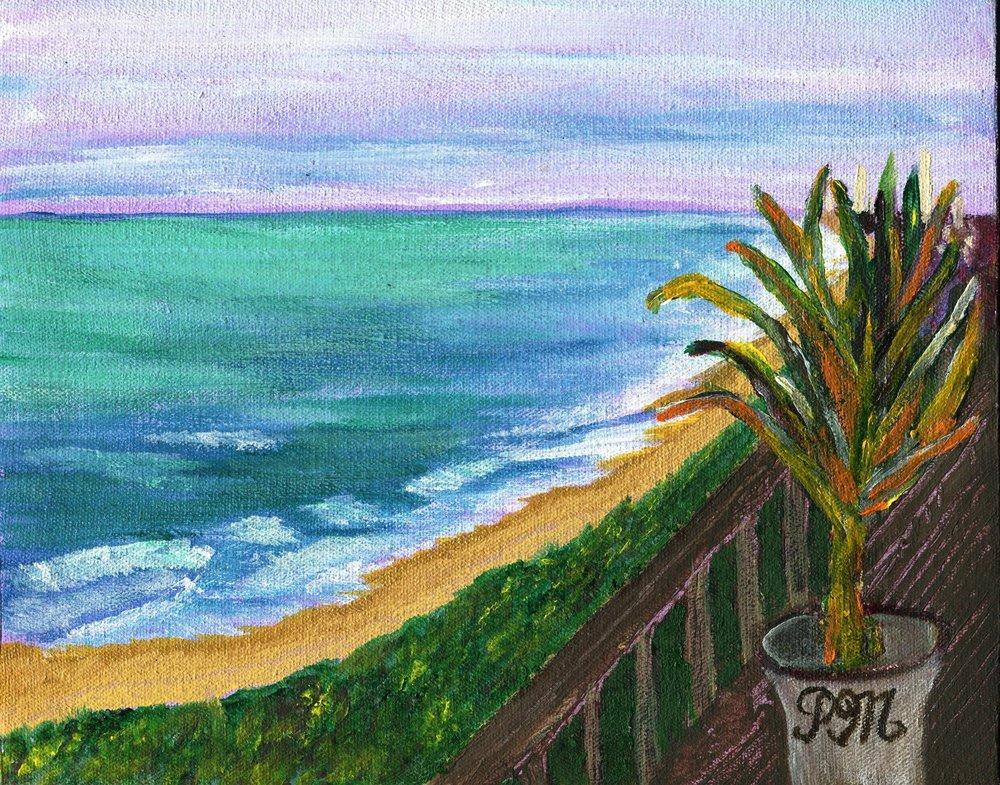 31c Patricia McCann, Tranquil Ocean, Oil on canvas